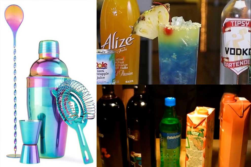 Ингредиенты, чтобы сделать безалкогольный вкусный детский коктейль