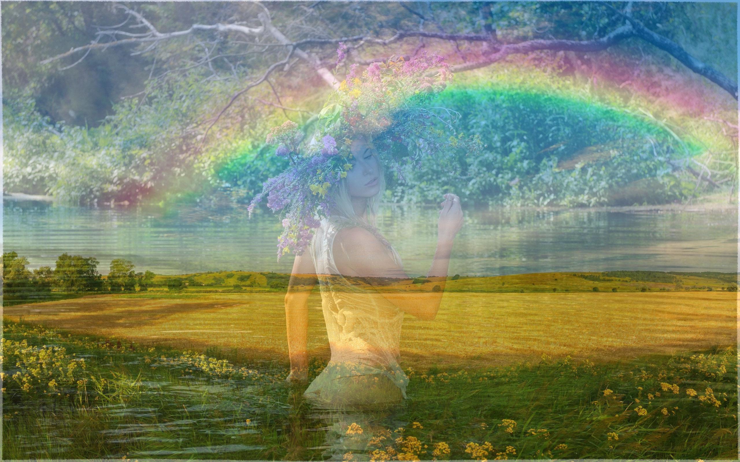 картинки двое на радуге они
