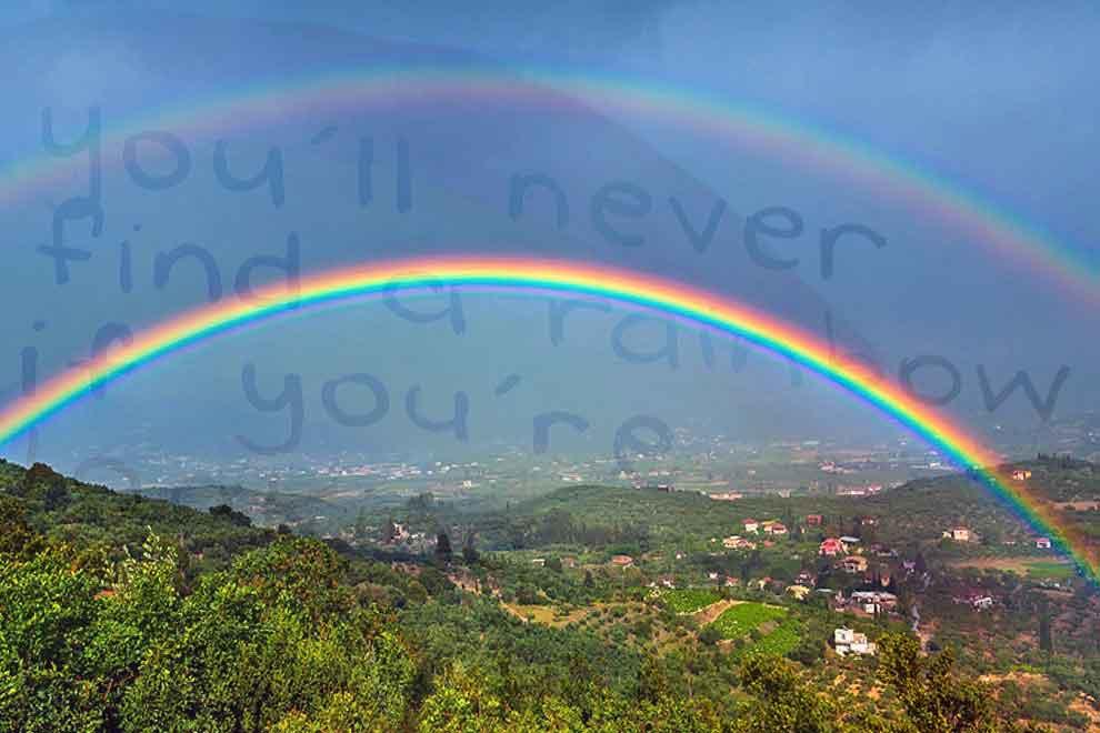 Крылатые выражения о радуге в форме цитат, статусов, афоризмов и простых фраз