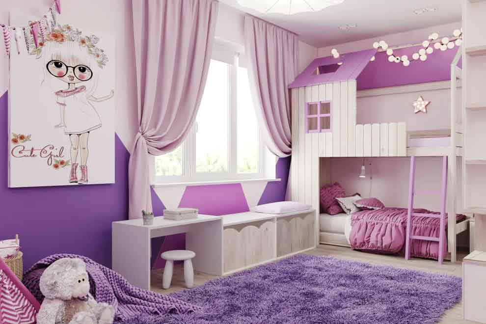 Фиолетовый в детской комнате