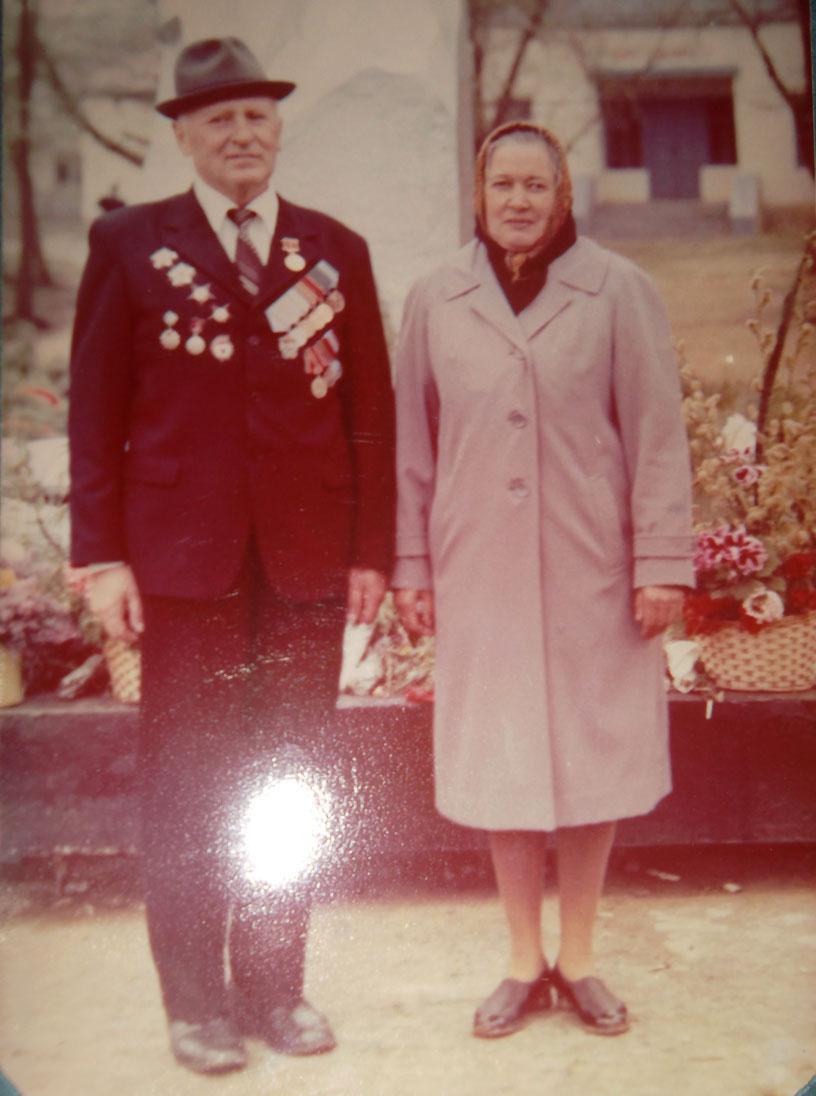 Макаров с женой - Дарьей Алексеевной