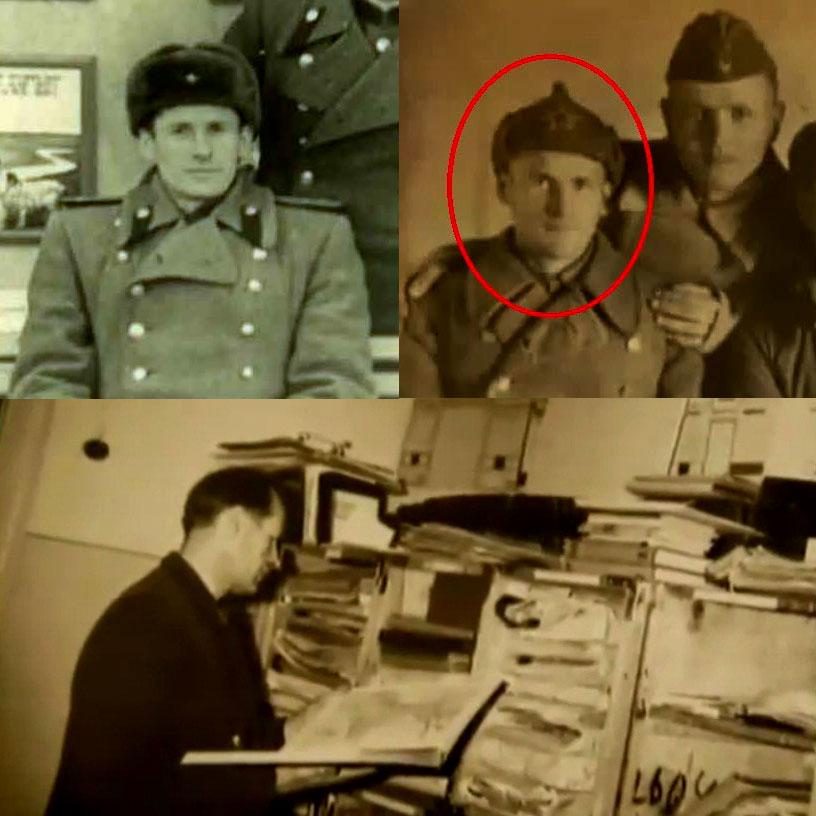 Фото Евгения Иосифовича на фронте и на гражданской службе