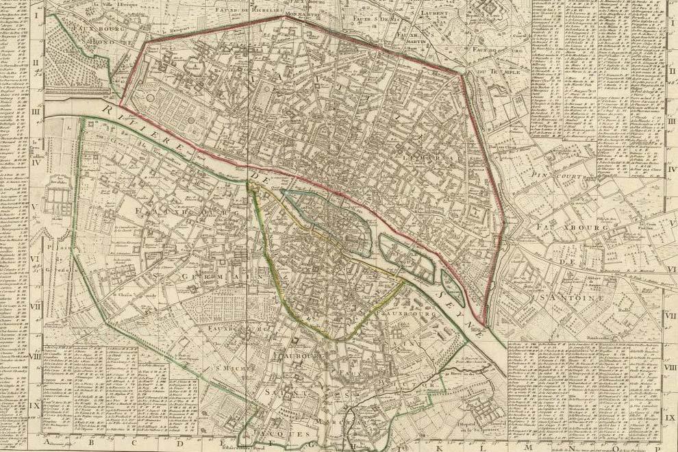 План города Париж - 1720 года