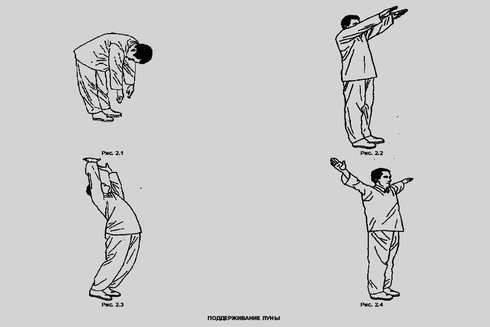 Поддерживание луны - омолаживающее упражнение цигун
