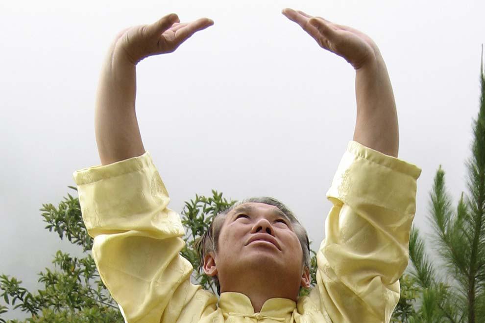 Упражнения Цигун: Подъем Неба и Поддерживание Луны, как делать